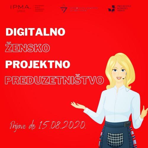 "BESPLATNA ONLINE OBUKA ""Digitalno žensko projektno preduzetništvo"""