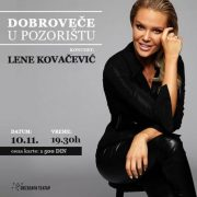 "Intimni koncert Lene Kovačević – ""Dobro veče u pozorištu""   10. novembra u Zvezdara teatru"