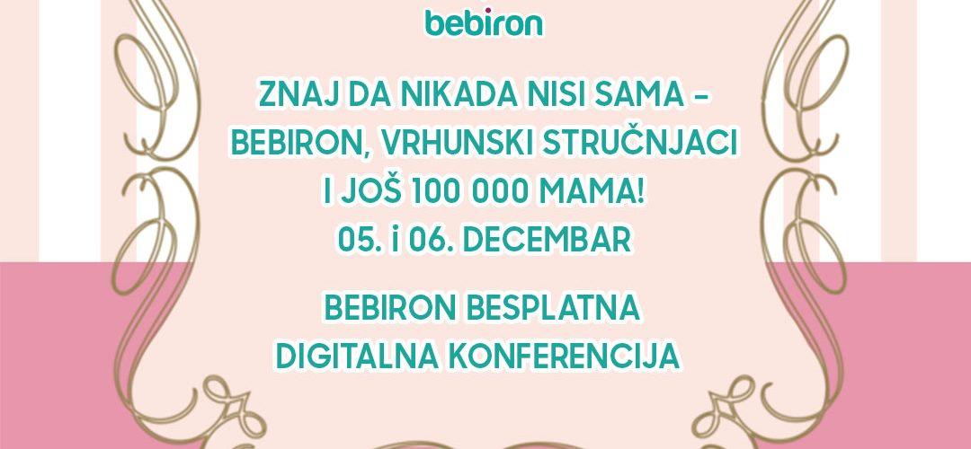 Besplatna digitalna konferencija za roditelje  Savetovališta BEBIRON  Predavanja za trudnice i mame